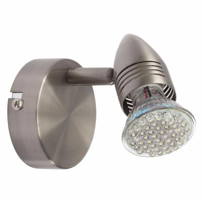 Plafonnier luminaire GU10 spot super orientable en chrome satiné Collection MOLI ref 7085 par Kanlux