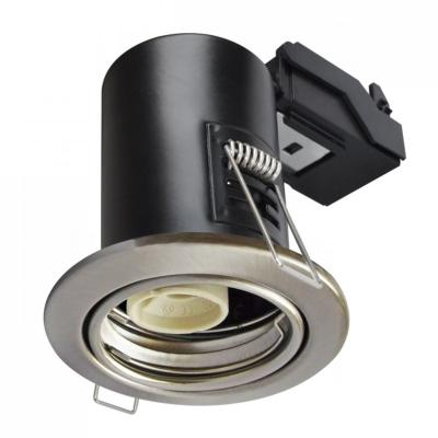 Spot encastrable anti-feu downlight Nickel satiné GU10 IP20 V-TAC