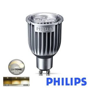 ampoule led gu10 philips master led dimtone dimmable 8 50w 2700k 25 ref 682431. Black Bedroom Furniture Sets. Home Design Ideas