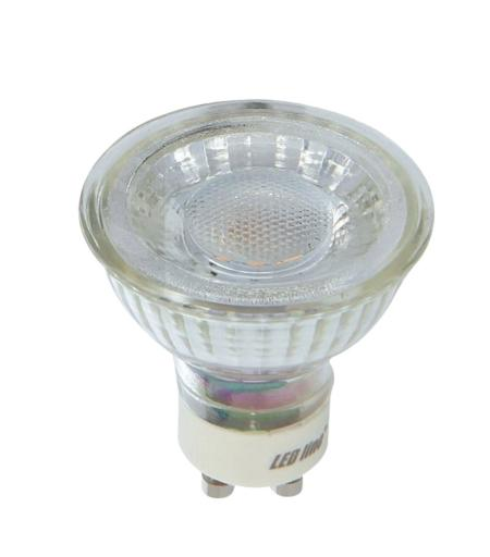 Ampoule LED GU10 MR16 3W = 273Lm Blanc Chaud 36° Ledin