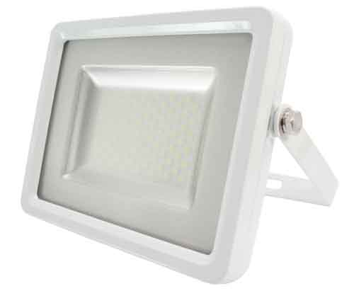 Projecteur DESIGN BLANC à led SMD 30W rendu 150W blanc froid IP65 V-TAC ref 5681