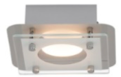Plafonnier luminaire LED Chrome/Transparent Collection CHARON modèle 1 spot ref 181066 par AEG