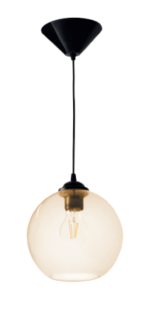 DESTOCKAGE Luminaire suspension AMBRE TRANSPARENT design Collection BRAGO ref 24330 par Kanlux