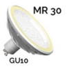 EASY-CONNECT Ampoule LED SMD GU10 MR30 blanc chaud 3000K V.2017 dimmable ref 67876
