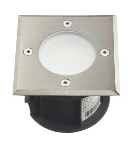 Spot carré en inox 316L 21 Leds SMD tension 12V Bleu IP67 Collection Québec