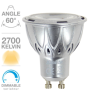 Ampoule GU10 Dimmable SPOT LED 345 LUMENS 2700K 4,2W = 50W XANLITE ref MG50SD