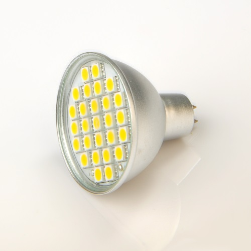 Ampoule led GU5.3/MR16 27 leds SMD 5050 Blanc froid 120°