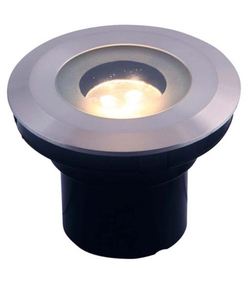 Spot encastrable AUREA 3W GU5.3 MR16 IP68 Blanc Chaud Garden lights ampoule fournie