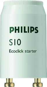 STARTER PHILIPS S10 4-65W SIN 220-240V WH EUR/12X POUR TUBES FLUOS