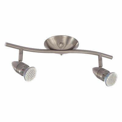 Plafonnier luminaire GU10 2 spots orientable en chrome satiné Collection MOLI ref 7086 par Kanlux
