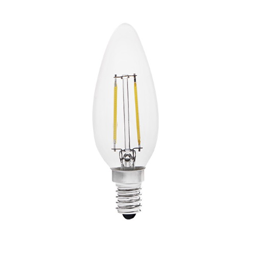 DESTOCKAGE Ampoule e14 à filaments LED COG 2 Watts ZIPI de Kanlux blanc froid 22463