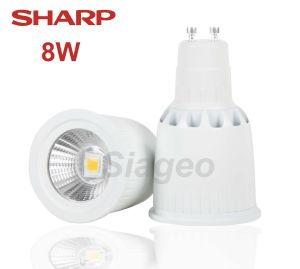 Destockage Ampoule led COB gu10 avec led 8W marque Sharp Blanc Neutre 5000k diffusion 38°