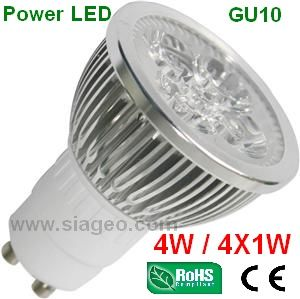 DESTOCKAGE Ampoule Power LED GU10 4X1W Blanc Chaud WARM avec Angle de diffusion Standard