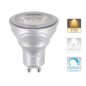 Ampoule LED GU10 MR16 Dimmable 6.5W = 345Lm (équiv 50W) Blanc Chaud 36° XANLITE