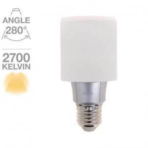 Cube led opaque Xanlite 280° E27-8W/50W - Blanc chaud ref AD638CO