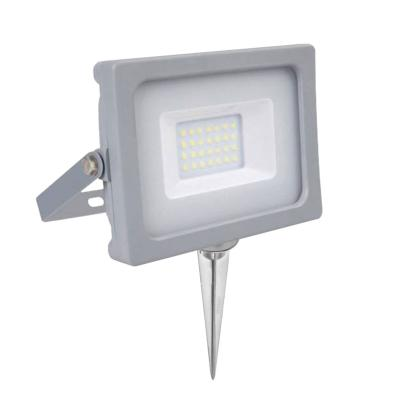 Pack projecteur LED SMD 20W IP65 4000K + Support à piquer Gris V-TAC