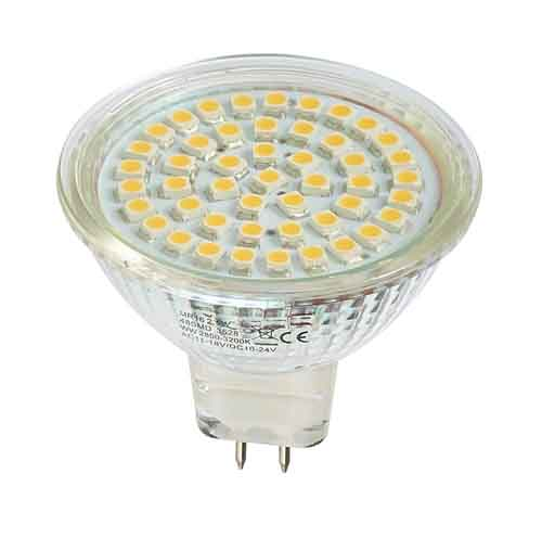 DESTOCKAGE Ampoule led à 48 Leds SMD Blanc Naturel 4800-5200k type GU5.3/ MR16 Diffusion 120°