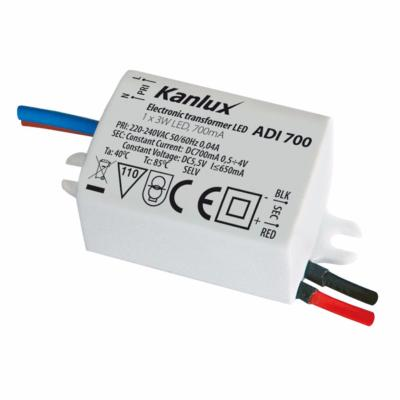 Alimentation led 700mA 1x3W IP20 ADI
