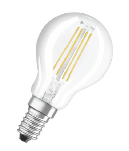 Ampoule à filament LED E14 RETROFIT CLP25 Transparent 2,80W 827 E14 par Osram