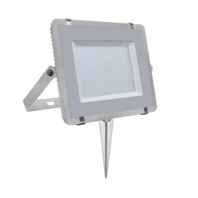 Pack projecteur LED SMD 200W Blanc neutre 4000K IP65 + Support à piquer Gris V-TAC