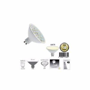 STOP-Ampoule gu10 a 60 led BLANC CHAUD diametre MR30