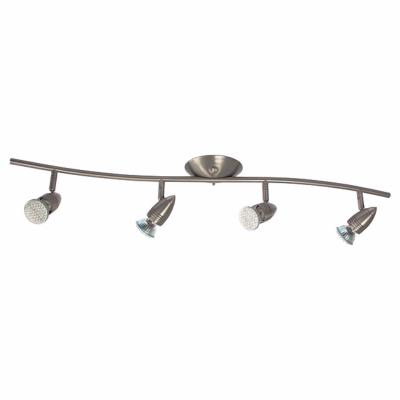 Plafonnier luminaire GU10 4 spots orientables en chrome satiné Collection MOLI ref 7088 par Kanlux
