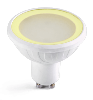 Easy Connect ampoule LED SMD GU10 MR20 Blanc chaud 3000K V. dimmable verre dépoli 6,5W 67846