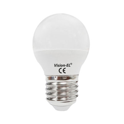 AMPOULE LED E27 6W G45 BLANC CHAUD 3000K DIMMABLE VISION-EL ELV-7486CD