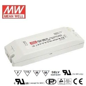 Alimentation LED Design plat Mean Well 100W Transformateur PLC-100-12