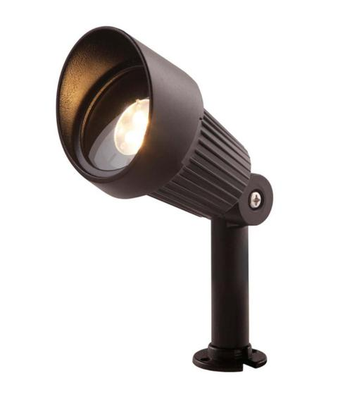 Spot projecteur piquer ou visser FOCUS 3W GU5.3 MR16 IP44 Blanc Chaud Garden lights amp. fournie