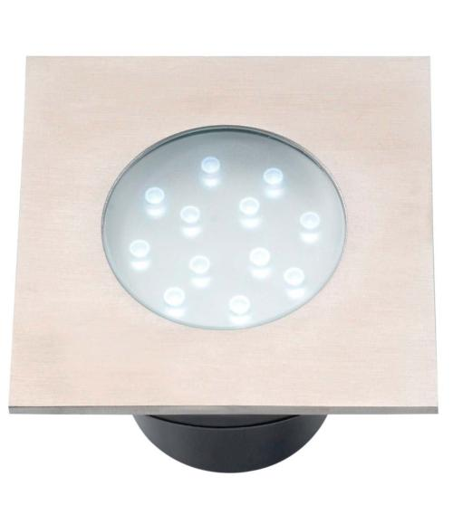 Spot encastrable HYBRA 2W PLATINE LED IP68 Blanc Très Froid Garden lights ampoule fournie
