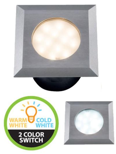 Spot encastrable CARBO 316L IP67 12V 2W 85/90LM Blanc Chaud & blanc froid 3000-6000K GARDEN LIGHTS