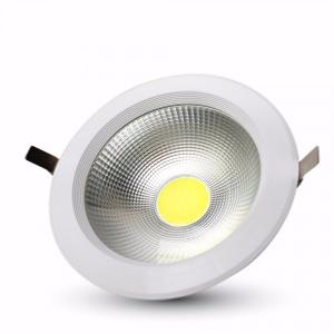 Downlight LED Reflector COB Verre OPAQUE 40W rendu 350W Blanc neutre 4500K HAUT LUMENS ref 1279