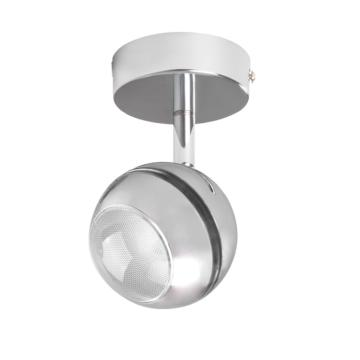 DESTOCKAGE Plafonnier luminaire LED SMD spot super orientable en chrome Collection RANVI ref 24430