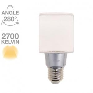 Cube led transparent Xanlite 280° E27-8W/50W - Blanc chaud ref AD638CT